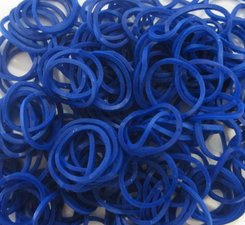 200 Loombands marine blauw
