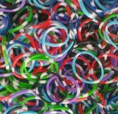 300 loom bands polkadot mix donkere kleuren
