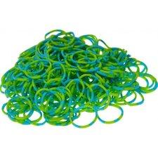300 loom bands groen-blauw