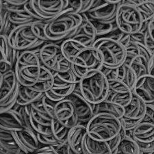 200 Loombandjes dark grey