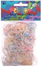 Rainbow Loom bands 300 glitter pastel mix