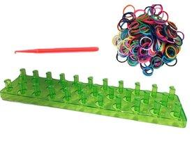 Groen loombord met loom elastiekjes