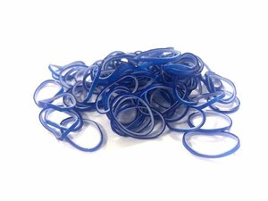 600 Loom bands blauw-witjes