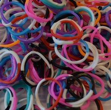 300 Loom bands happy mix jelly donker