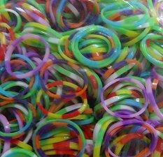 300 Loombands polkadot mix lichte kleuren