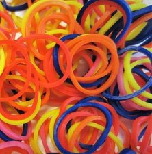 200 Loombands mix kleur