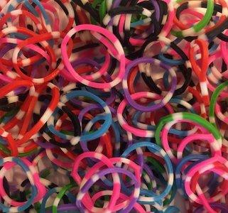 300 loom bands gekleurde polky