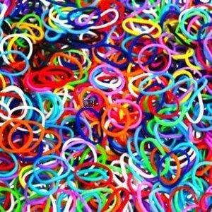 600 Loombandjes kleurenmix