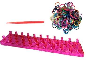 loombord roze met elastiekjes