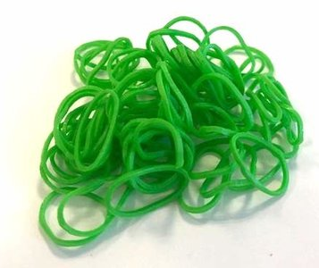 200 Loom bands smaragd groen