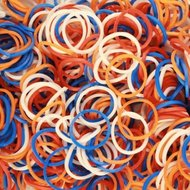 loom bands rood wit blauw