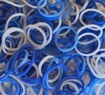 Blauw-wit loombands