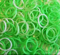 Loombands groen wit